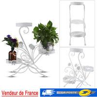 Fleurs escalier etagere plantes escalier pflanzenbank support de fleurs Blanc