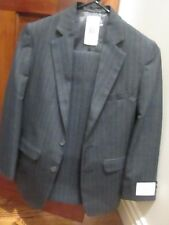 Perry Ellis Boy Young Man Gray Stripe 2 pc Formal Suit size 12 Regular