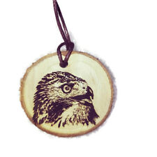 RED TAIL HAWK BUZZARD Personalised Necklace Charm Wood Handmade Engraved Gift
