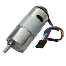 1x 37GB545 DC12V 332RPM Gear Motor With Encoder Electric Speed Reduce Motor