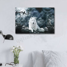 AU 20''X30'' Wolf Stone Canvas Prints Wall Painting Pictures Valentines Decor