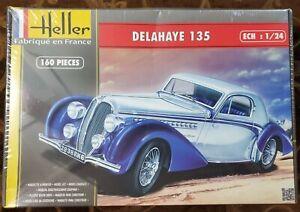Heller Delahaye 135 1/24 Model Kit Rare Kit New Sealed USA Seller
