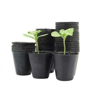 Eg _ 100Pcs Fleur Pot Plastique Semis Plantation Maternelle Pot Pots Jardin Dur