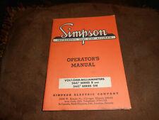 Simpson 260 Series 5 and 5M Original Manual
