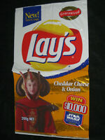 Empty Lay's Star Wars Large Chip Packet 1999 Tazo promotion wrapper bag Lays