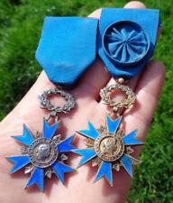 médailles  ORDRE  national du mérite en argent 1963  / 2 exemplaires