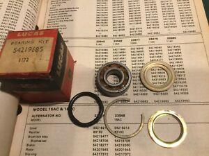 NOS Lucas Alternator Drive End Kit 54219685. 1969-71 Jaguar XKE & XJ6  —3/25–