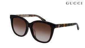 GUCCI Sunglasses GG0082SK (003) Havana RRP-£215