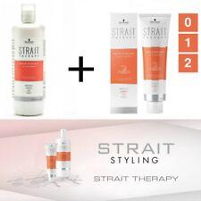 schwarzkopf strait therapy hair straightening kit 01,2 cream + neutralizing milk