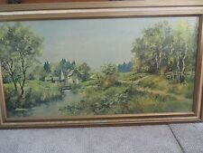 Framed American Masterpiece by Aaron Bros. E. F. Karger - Peaceful Countryside