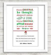 Wish String Charm Bracelet 'Grinch' Friendship Santa Gift Card  #46A