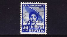 SWITZERLAND: one USED SEMI-POSTALS (Pro-Juventute) 1939 SC#B109