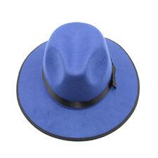 Men Jazz Hard Felt Fedora Panama Bowler Wide Brim Hat Large Size 7 1/2 60cm