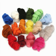 36pcs Wool Yarn Roving Fibre Hand Spinning Diy Craft for Needle Felting