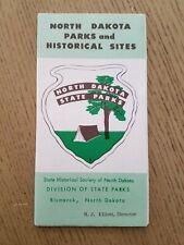 VTG 1960s OFFICIAL North Dakota State Parks Historical Sites Map Info Brochure
