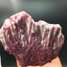 928g Pink Tourmaline Rubellite Crystals on Quartz Matrix from Brazil 9246