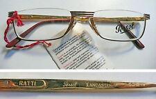 Persol Ratti Lancaster montatura per occhiali vintage eyeglasses 1980's NOS