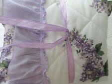NEW Simply Purple Lilac Set of HYDRANGEA Ruffled Pillow Shams Shabby Chic