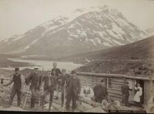 c1885 Jotunheimen Spiterstulen Hikers Original Axel Lindahl Albumen Photo Norway