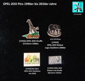 OPEL-ZOO Pins 1990er bis 2010er Jahre Abzeichen AUSSUCHEN