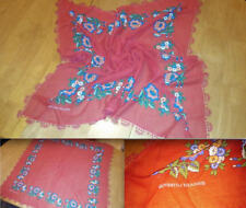 Vtg Original 80s Gunbatili Yikanmis Red Green Gypsy Style Floral Head Scarf.. 29