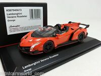 1:64 Kyosho Minicar Collection Lamborghini Veneno Roadster 2014-2015 Orange NEW