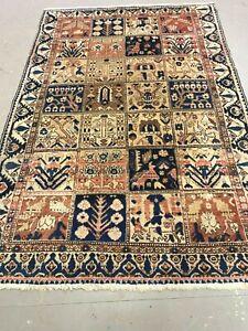 antico-swiss Beautiful Antique indoBAKHTIARI rug  4`7 x 7` ft