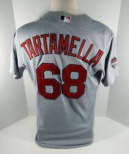 2015 St. Louis Cardinals Travis Tartamella #68 Game Used Grey Playoff Jersey