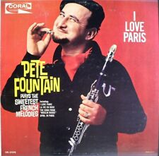 PETE FOUNTAIN: I Love Paris LP (Mono, 2 neat clear taped seams) Easy Listening