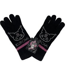 Kuromi Gloves Set soft artificial fur Cute! Sanrio Original 2008 NWT