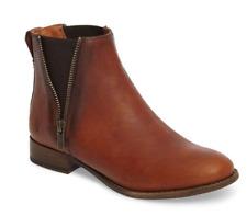 NWB FRYE Carly Zip Chelsea Boots in Cognac Size 8.5 $298
