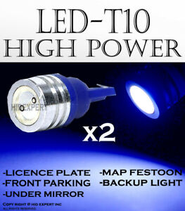 2 pairs T10 High Power Blue LED Direct Plugin for Front Parking Light Lamps D507