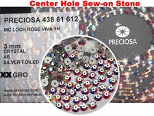 360 Preciosa Czech VIVA Loch Rose 1-hole Sew-on Flatback Stones 3mm Crystal AB