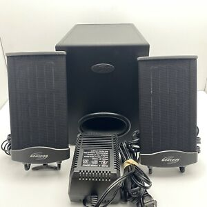Monsoon MM-702 Flat Panel Audio Speaker System With Subwoofer And Power Adapter