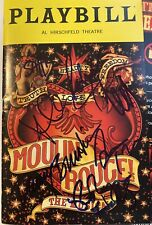 Moulin Rouge Autographed Broadway Cast Signed Playbill By All Leads