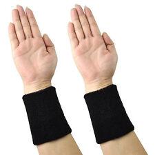 2x Sports Wrist Sweatbands Tennis Squash Badminton Gym Wristband Exercise Fit