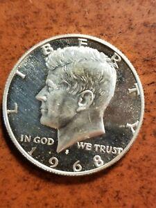 1968 S Kennedy Proof Half Dollar, 40% Silver, beautiful strike    INV08  HL8140