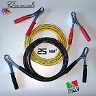CAVI PER COLLEGAMENTO BATTERIA PROFESSIONALI 120 A 3 MT 25 mm² IN RAME AUTO MOTO
