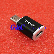 2 Pcs Micro USB HDTV MHL HDMI Adapter 5 to11 Pin Converter For Samsung S3 i9300