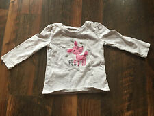 Size 2T gray LONG SLEEVE SPARKLE DEER shirt by JUMPING BEANS