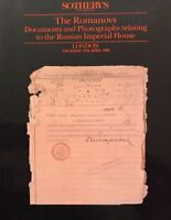 SOTHEBY'S The Romanovs Documents and Photographs Relating Russian Imperial house