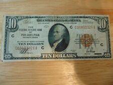 1929 $10 Philadelphia Pennsylvania PA National Currency VF