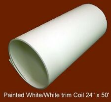 "White Aluminum Trim Coil .019 thickness 24""w x 50' *With Trim Nails & Caulking*"