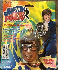 """New"" V 00004000 intage 1999 Austin Powers Talking Keychain Basic Fun - 3 Sayings Unopened"