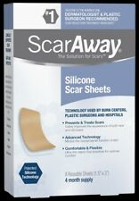 ScarAway Scar Treatment Strips, Silicone Adhesive Fabric 4 Month Supply exp 9/22