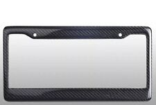 REAL 2PCS 100% CARBON FIBER LICENSE PLATE FRAME TAG COVER ORIGINAL 3K+Screw Caps