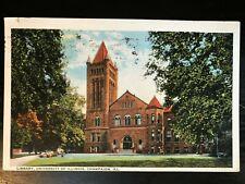 Vintage Postcard>1923>University of Illinois>Library>Champaign>Illinois