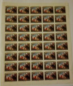 Rwanda, American Bicentennial Stamp Sheet, 40 stamps