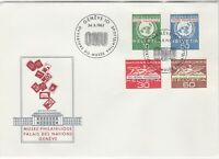 Switzerland 1962 UN Museum Palace of Nations ONU Slogan FDC Stamps Cover Rf25418
