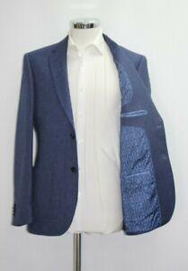 Men's T.M.LEWIN Slim Fit Jubilee Navy Blue Blazer Jacket  Ref 64140 / 7513